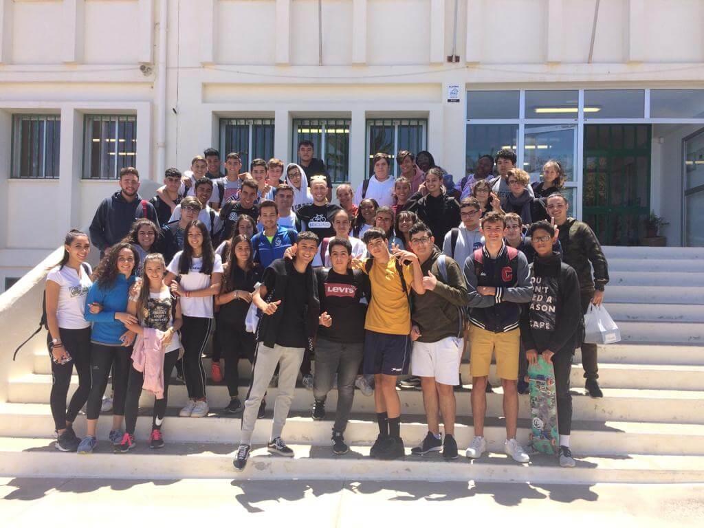 Students from Secondary School en Altavista (Lanzarote, Canarias, Spain)